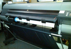 Our newest Canon wide format printer