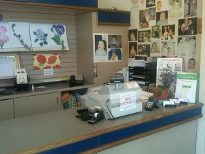 Mom and Pop shop front desk